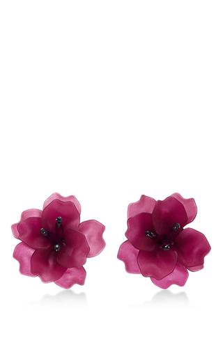 Medium matthew melka purple m o exclusive fleur de lis earrings in purple