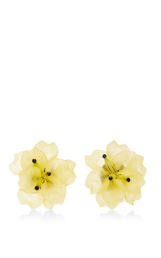 Medium matthew melka yellow m o exclusive fleur de lis earrings in yellow