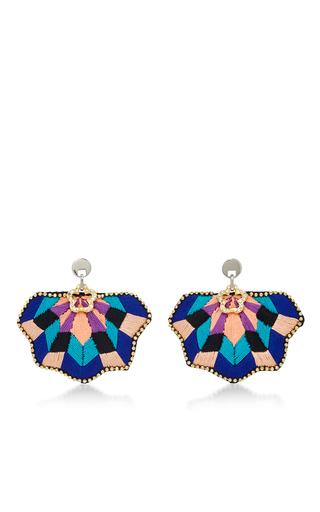 Medium matthew melka multi m o exclusive fan coral earrings in pink and blue