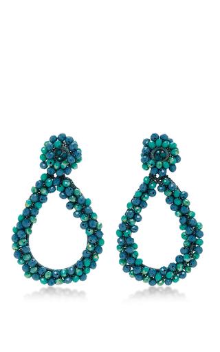 Medium bibi marini blue m o exclusive beaded drop earrings in blue