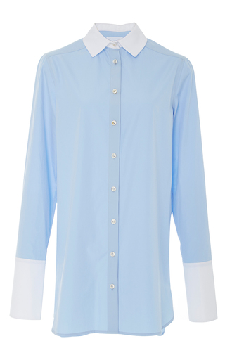 Medium monographie light blue classic fitted long shirt