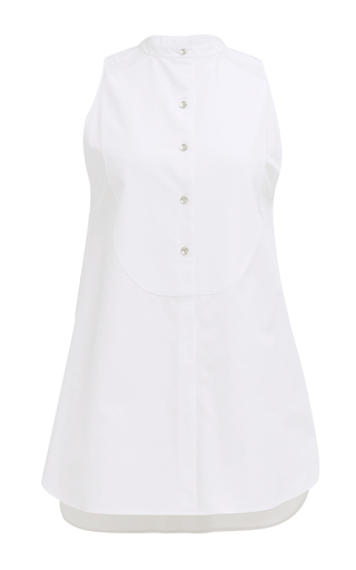 Medium monographie white smoking essentials sleeveless shirt