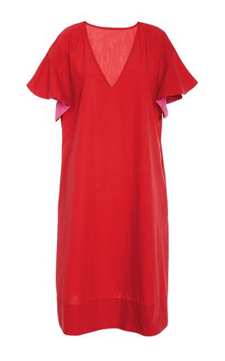 Medium araks red poppy orchid marion v neck cover up dress