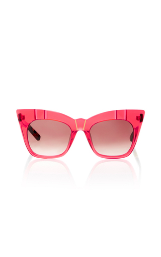 Medium pared eyewear red kohl kaftan sunglasses