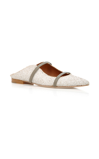 Medium malone souliers white maureen glittered point toe flats