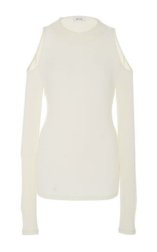 Cutout Shoulder Sweater by GETTING BACK TO SQUARE ONE Now Available on Moda Operandi