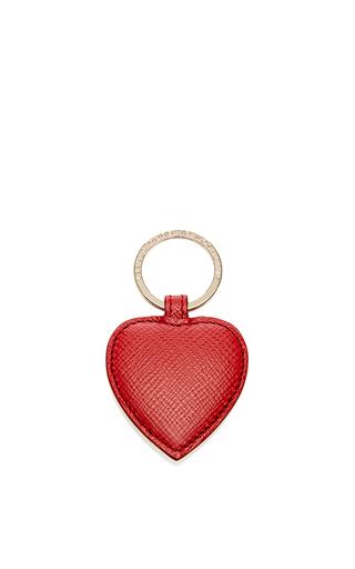 Medium smythson red panama heart keyring