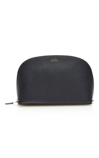 Medium smythson navy panama ladies washbag