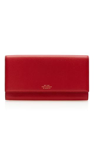 Medium smythson red panama marshall travel wallet 2