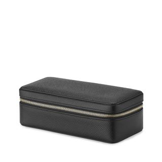 Medium smythson black panama travel watchbox