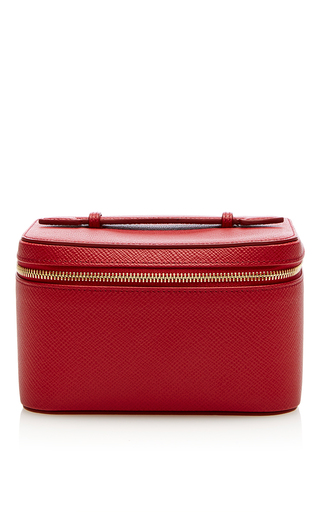 Medium smythson red panama mini jewelry case
