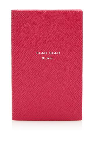 Medium smythson pink panama notebook blah blah blah