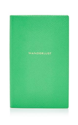 Medium smythson green panama notebook wanderlust