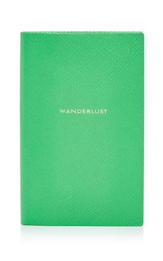 Medium smythson green panama notebook wanderlust