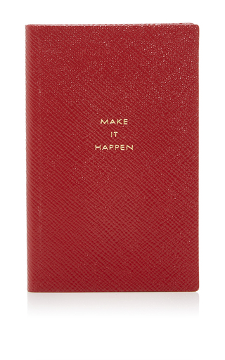 Medium smythson red panama notebook make it happen