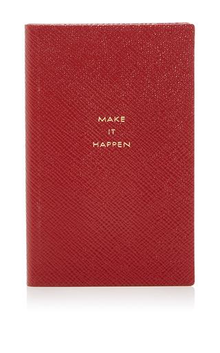 Medium smythson red panama notebook make it happen