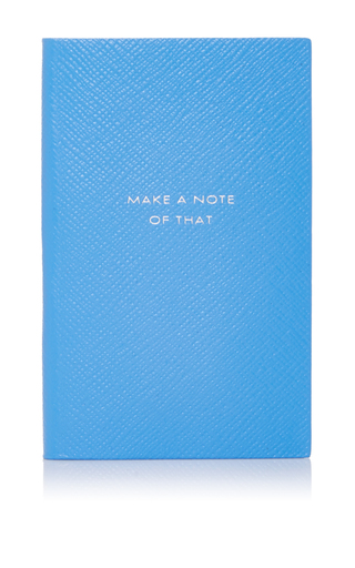 Medium smythson light blue panama notebook make a note of that
