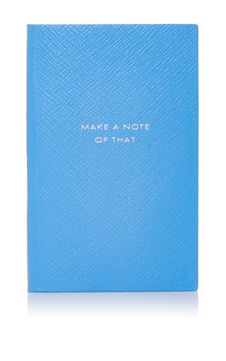 Medium smythson light blue panama notebook make a note of that