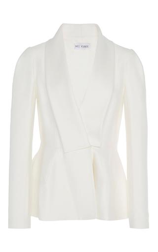 Medium dice kayek white peplum jacket