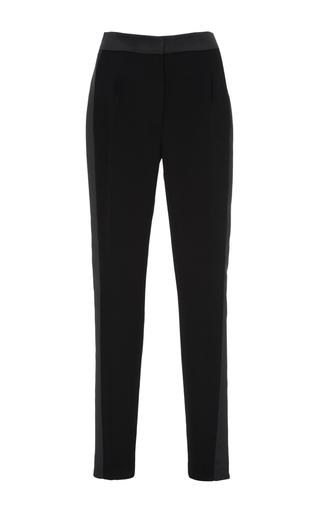 Medium dice kayek black crepe straight legged pants