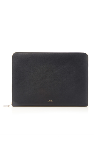 Medium smythson navy panama 15 laptop case