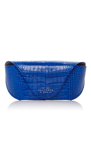 Medium smythson blue mara sunglasses case 2