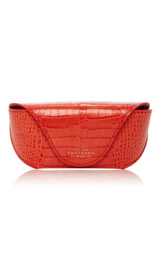 Medium smythson red mara sunglasses case