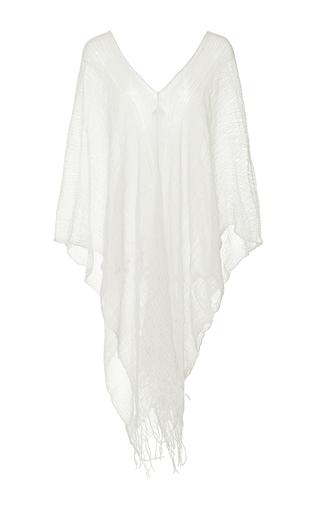 Medium caravana tulum white symi long sleeve poncho