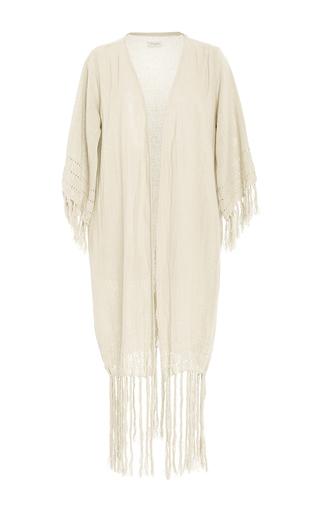 Medium caravana tulum off white olympia fringe wrap dress
