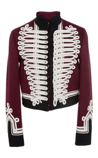 Medium burberry burgundy wool military jacket