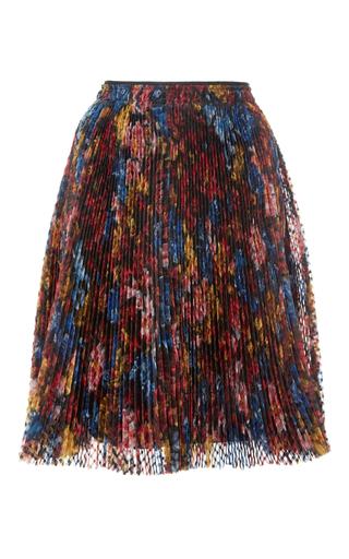 Medium burberry floral silk pleated organza skirt