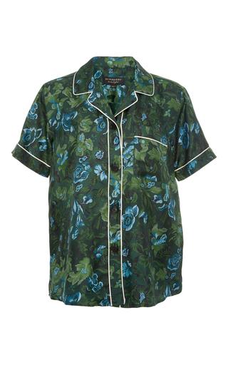 Medium burberry floral printed silk sleep shirt