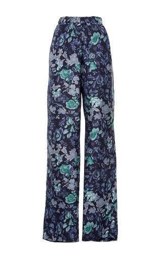 Medium burberry navy silk printed pajama pants