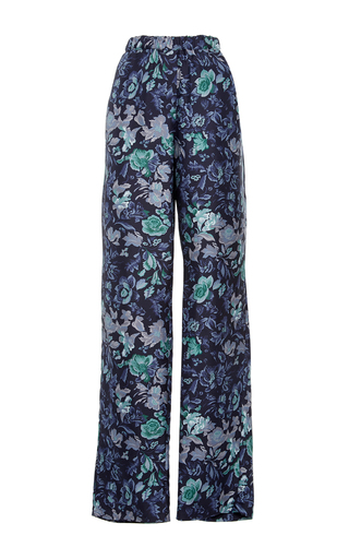 Medium burberry navy silk printed pajama pants