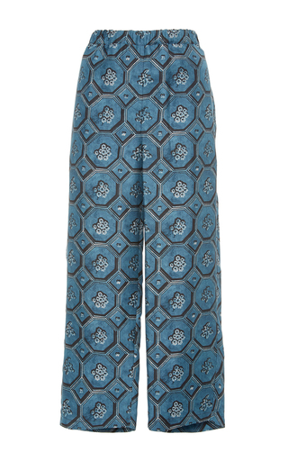 Medium burberry print printed silk pajama pants