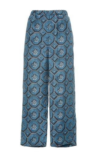 Medium burberry print printed silk pajama pants