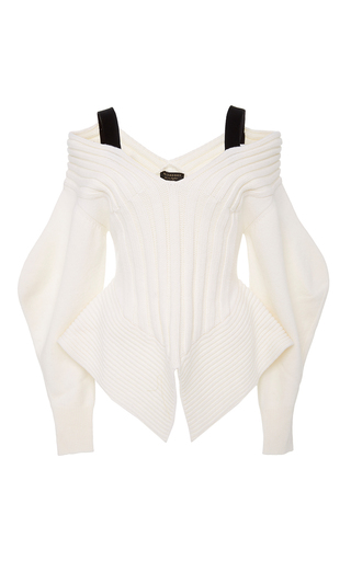 Medium burberry white off the shoulder corset sweater