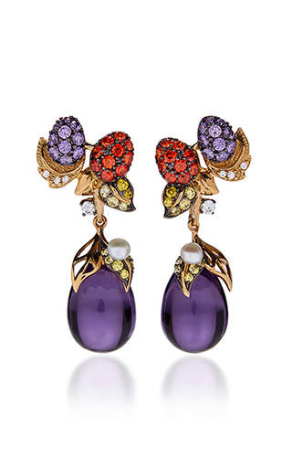 Medium anabela chan purple blackberry drop earrings