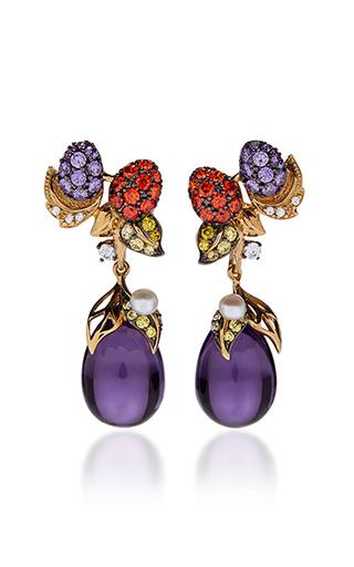 Medium anabela chan purple blackberry drop earrings