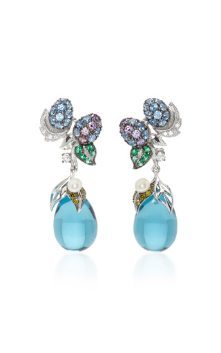 Medium anabela chan blue blueberry drop earrings
