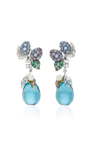 Medium anabela chan blue blueberry drop earrings