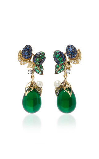 Greenberry Drop Earrings by ANABELA CHAN Now Available on Moda Operandi