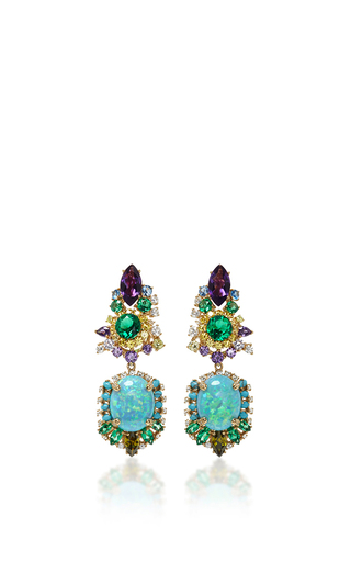 Medium anabela chan blue opals triton earrings