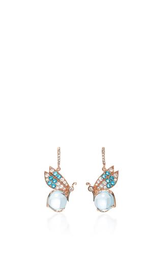 Medium anabela chan blue butterfly topaz earrings