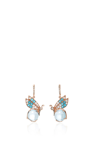 Medium anabela chan blue butterfly topaz earrings