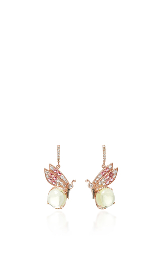 Medium anabela chan pink butterfly quartz earrings