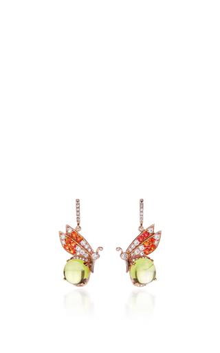 Medium anabela chan yellow butterfly citrine earrings