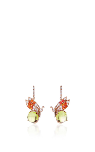Medium anabela chan yellow butterfly citrine earrings