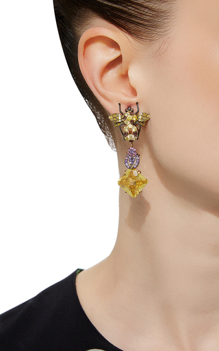 Beetle Drop Earrings by ANABELA CHAN Now Available on Moda Operandi