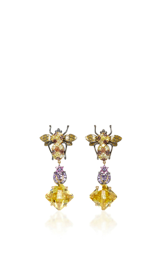 Medium anabela chan gold beetle drop earrings